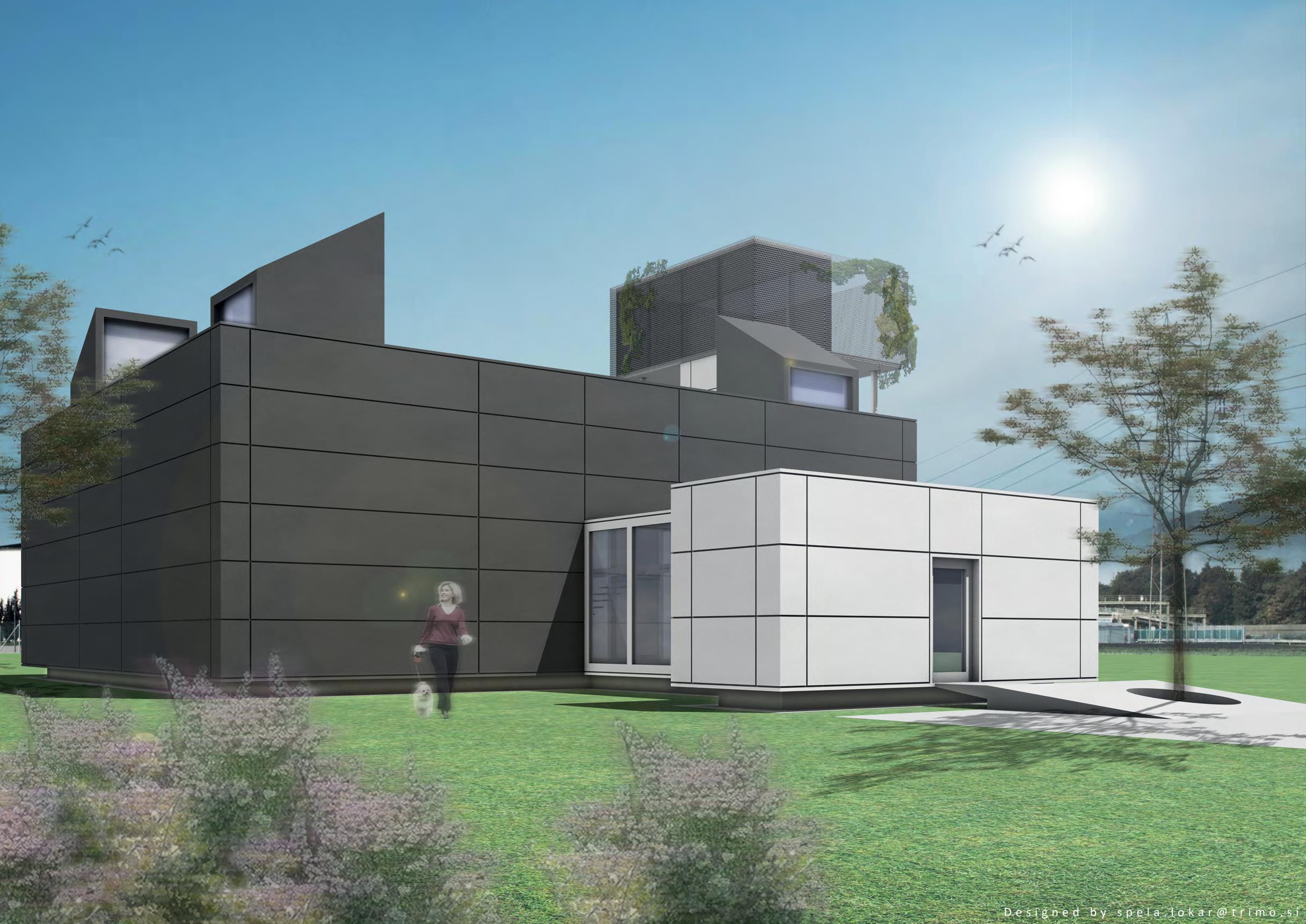 gro z gie villa in modulbauweise conhouse. Black Bedroom Furniture Sets. Home Design Ideas