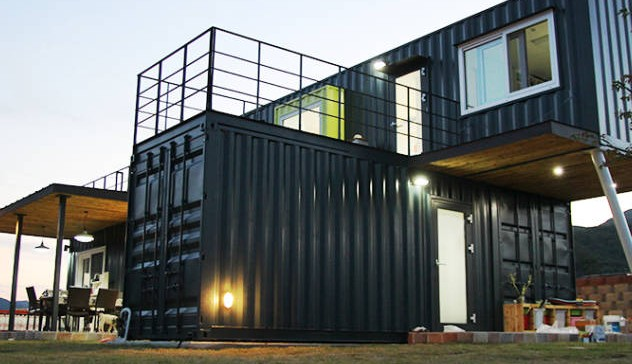 container haus perfect this woman built a home out of old. Black Bedroom Furniture Sets. Home Design Ideas