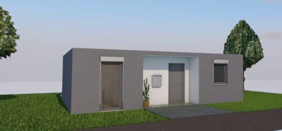 Minihaus 60 - eingangsseite