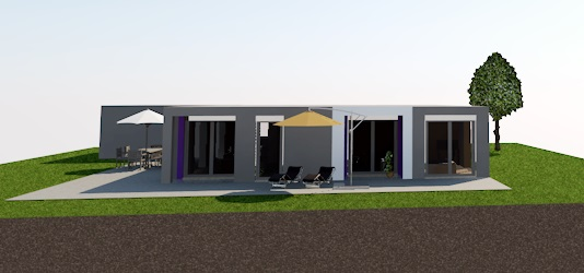 bungalow 160 - terrassenseite